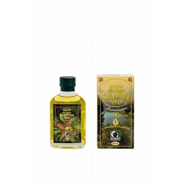 Масло из ядра кедрового ореха с живицей кедровой 20% нерафинированное пищевое